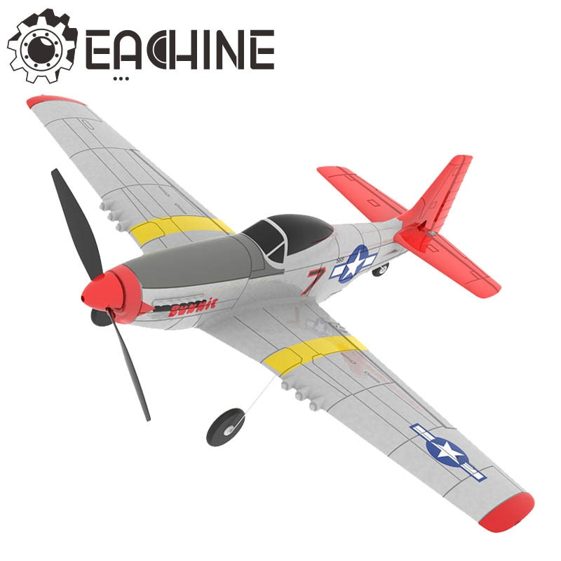 photo of Eachine Mini P-51D EPP 400mm Wingspan 2.4G 6-Axis Remote Control RC Airplane Trainer Fixed Wing RTF One Key Return for Beginner