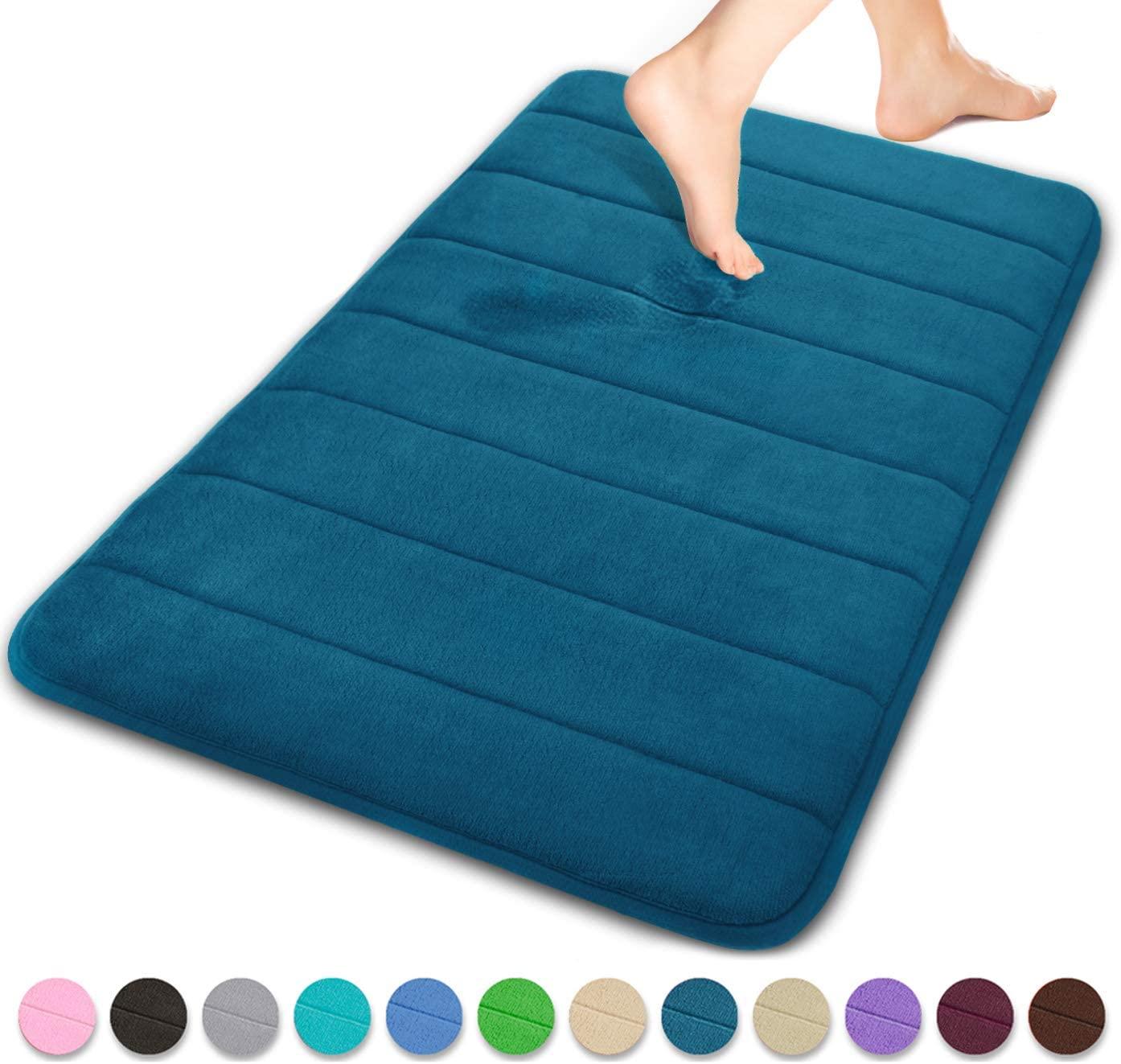 Yimobra Memory Foam Bath Mat Large Size 31.5 by 19.8 Inches,