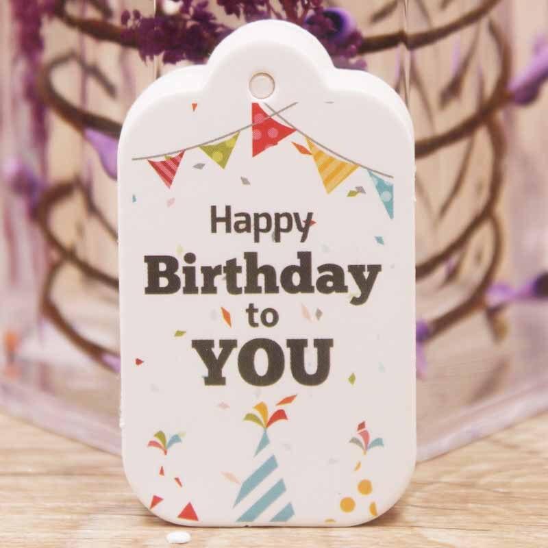 Birthday Label Tag Gift Card Happy Birthday Label Paper-4