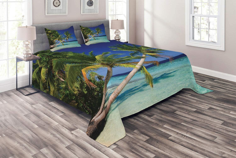 Ambesonne Ocean Coverlet, Maldives Bay Paradise Resort Summe