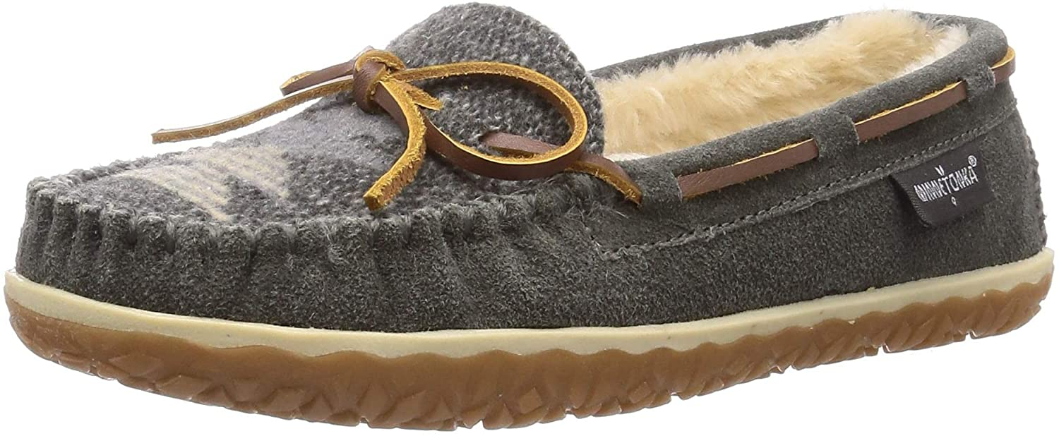 Minnetonka Women's Tilia Suede Moccasin Slippers