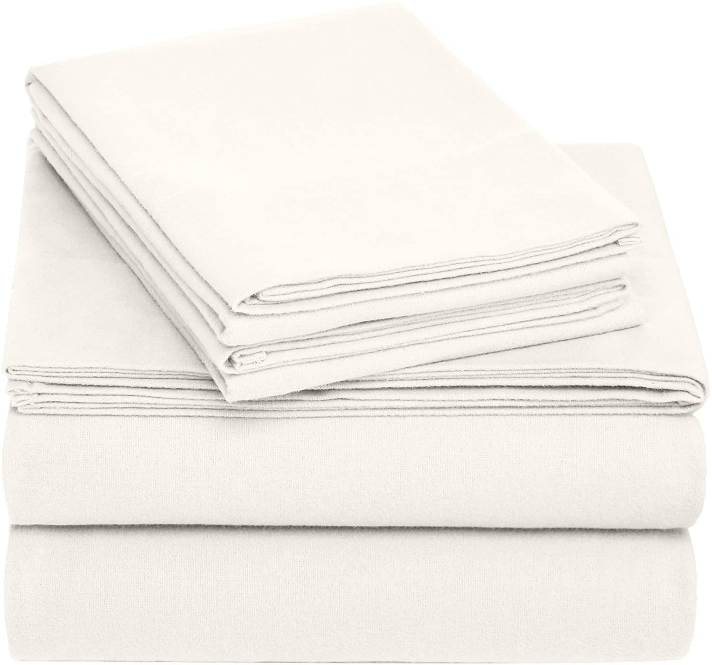 pinzon cotton flannel bed sheet set full