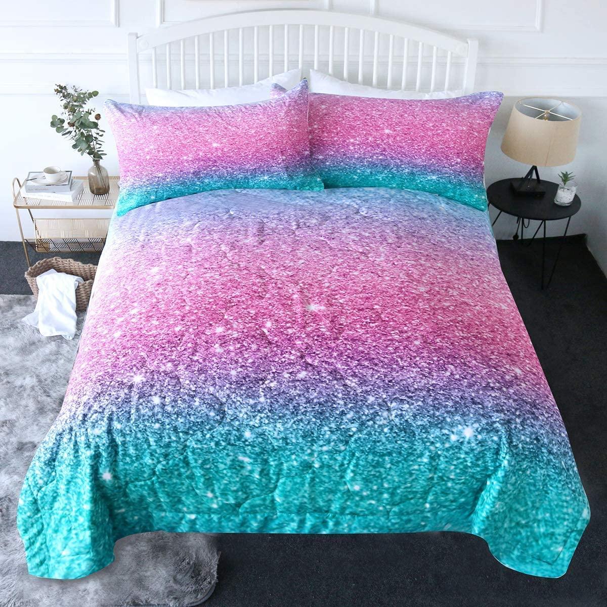 BlessLiving 3 Piece Comforter Set with Pillow Shams - 3D Pri