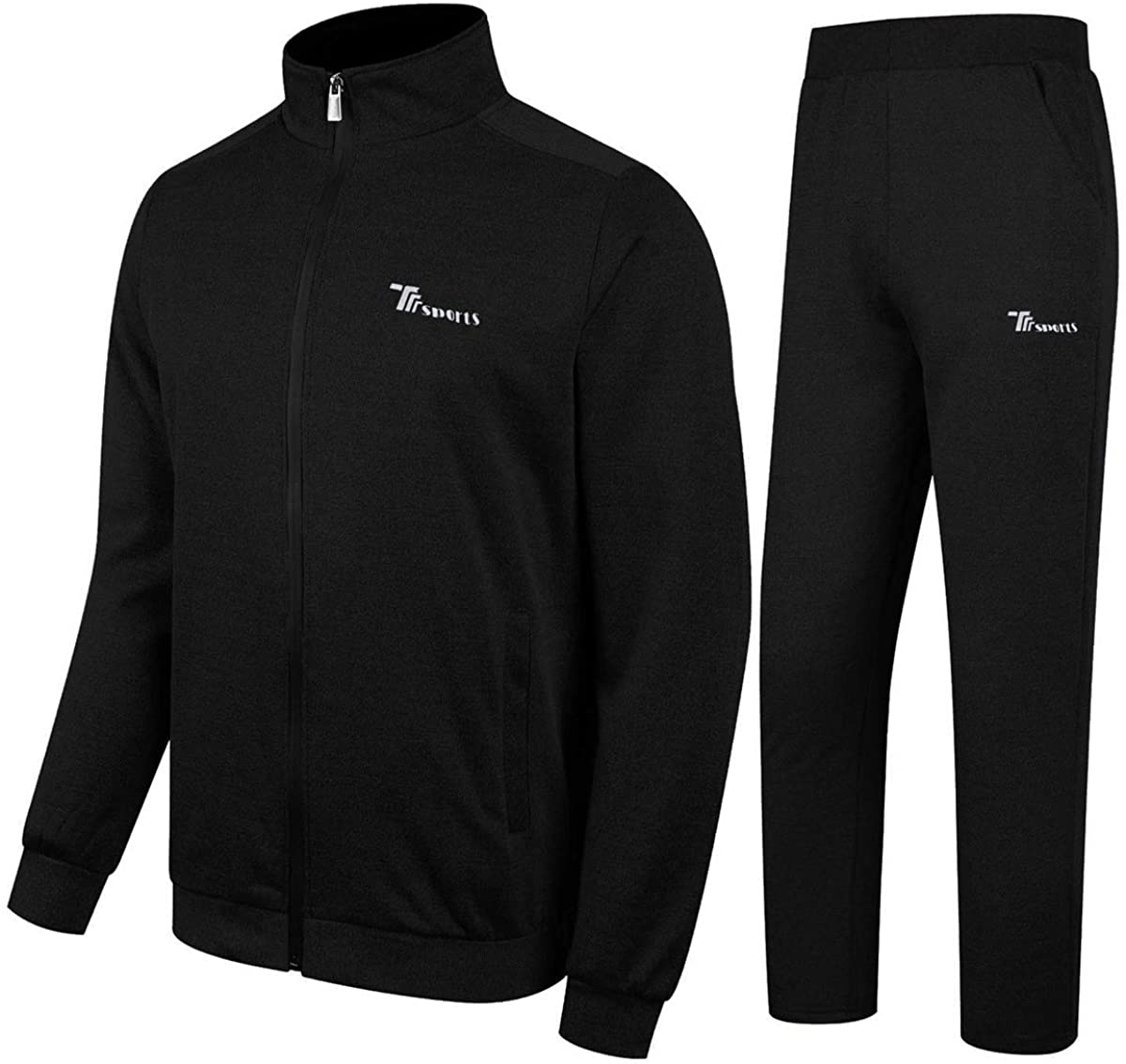 TBMPOY Men's Tracksuit Athletic Sports Casual Full Zip Sweat
