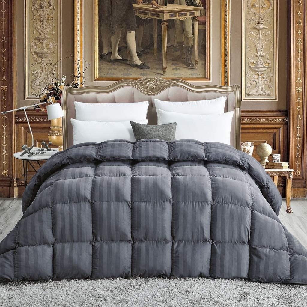 Luxurious All-Season Goose Down Comforter King Size Duvet Insert, Exquisite Gray | eBay